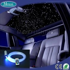 6W RGB car roof top ceiling star light for mini LED light engine and pmma fiber optic cable and remote control