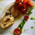 Trancio di Spada con pomodorini confit e pinoli tostati