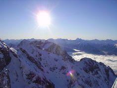 Niedere Tauern & clouds below