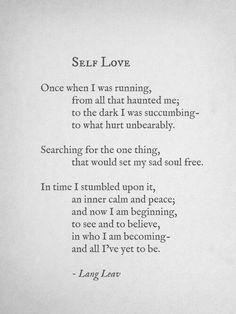 Self Love - Lang Leav