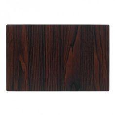Wood Grain Vinyl Placemat Laminated Cotton Wipeable