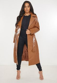 Oversized Mantel, Oversized Coat, Trench Coat Outfit, Leather Trench Coat, Church Suits And Hats, Mode Mantel, Designer Leather Jackets, Plus Size Kleidung, Leder Outfits