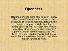 Image result for openness and leadership