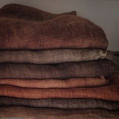 The highest quality Linen - Cotton - Wool textiles by LinenWorld Wabi Sabi, Inchies, Textiles, Brown Aesthetic, Colour Board, Earth Tones, Home Deco, Linen Fabric, Color Inspiration