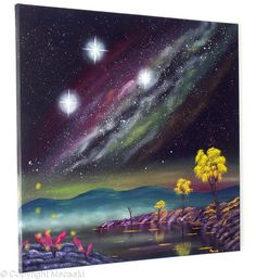 Milky Way - oil on sterched canvas