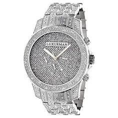 ca5a69f62a Real Diamond Watches for Men Mens Luxurman Watches  Real Diamond Watch
