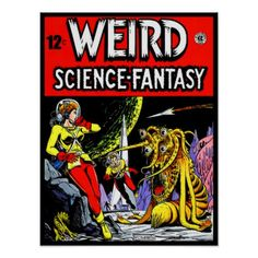 WEIRD: Science Fantasy Comics 13x17 Poster - retro posters classy cool vintage