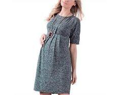 vestido - Malha tricot melange