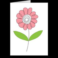 Pink flower drawing card