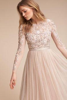Cute looking wedding dress & wedding dress & & wedding & & bridal gown & www. Wedding Dress Sleeves, Long Sleeve Wedding, Lace Dress, Dress Up, Long Sleeve Blush Dress, Dress Night, Lace Bodice, Dresses Elegant, Beautiful Dresses