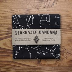 Whether stargazing or navigating, this bandana should be in your back pocket. It shows the summer night sky in North America with bright glow in the dark ink so your eyes don't need to readjust to the night sky every time you look up from your chart. It also has a few tips for quick ways to