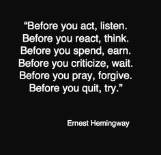 Before you......