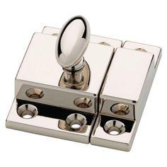Martha Stewart Living Matchbox Catch in brass or polished nickel P21221C-474-CP ($6.97)