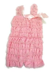 Light pink lace baby romper