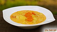 Tejfölös krumplileves Hummus, Breakfast, Ethnic Recipes, Food, Morning Coffee, Eten, Meals, Morning Breakfast, Diet