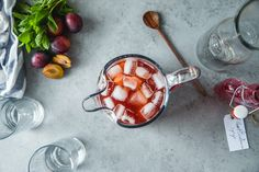 Plum and Cardamom Iced Tea - Will Cook For Friends