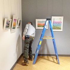 The show being hung this morning.  It looks fantastic!  Artists reception in April 30 2-4.  Details coming so if you are internist on area keep your eyes peeled or send me a pm now. by floraandmay