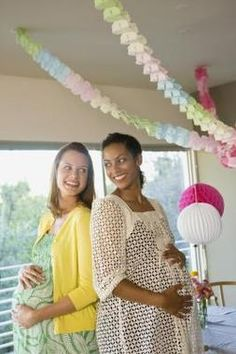 A double baby shower is a fun way to celebrate two pregnancies.