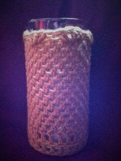 Crochet vase cozy