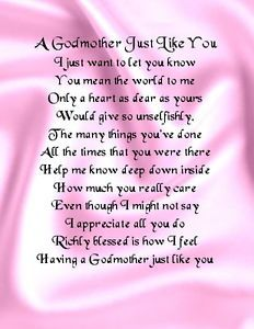 Godmother Poems And Quotes To My Godmother With Love