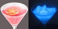 Brighten Up Your Party with These Cool Glow-in-the-Dark Cocktails|2 liters of gin or vodka 9 liters of tonic water 3-4 bottles of Roses Mojito Passion (or similar girly drink)