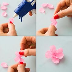 Paper cherry blossoms make for the prettiest flower crowns lm how to make a cherry blossom flower crown via brit co mightylinksfo