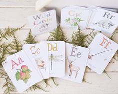 Wild Cards Number Flash Cards by TaylorTown on Etsy
