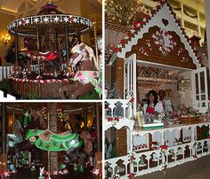 Disney never does anything on a small scale. Their 16 foot high gingerbread house even has a store inside of it. What do they sell? Gingerbread of course. This Disney house took 600 pounds of sugar, 800 pounds of flour and over 3,000 egg whites. Disney also created a carousel made of gingerbread and chocolate. To top it off, this merry-go-round actually works.