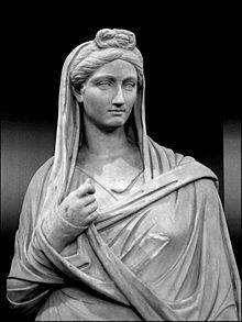 Women in Roman society were citizens, but could not vote or hold political office. Because of their limited public role, women are named less frequently than men.