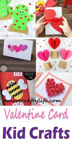 valentines day card kid crafts - arts and crafts activities -valentines day kid . Arts And Crafts For Adults, Valentine's Day Crafts For Kids, Valentine Crafts For Kids, Easy Arts And Crafts, Valentines For Kids, Toddler Crafts, Holiday Crafts, Art For Kids, Kid Crafts