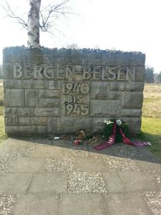 Gedenkstätte Bergen-Belsen in Loheide -- I have a picture of myself standing at this sign. Very sobering.