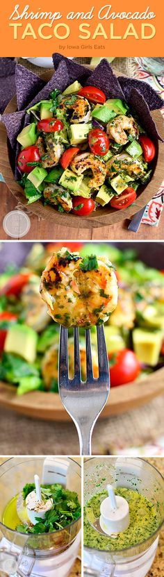 Shrimp and Avocado Taco Salad | 7 Easy Dinners To Make This Week