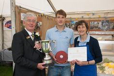 The President Nigel Brown presenting the prize for the Best Stand in the Food Court 2013 to Cote Hill Cheese http://www.cotehill.com/