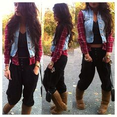 """Minus the flannel and denim vest. This would be a perf """"im not gonna do shit today"""" type thing xD"""
