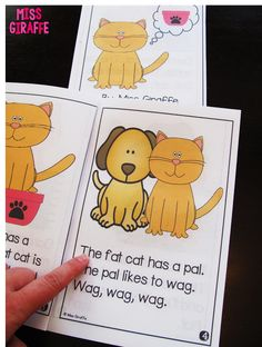 """Great little readers for phonics sounds!! {From """"Short A Activities and Resources (including freebies!)""""}"""