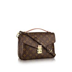 Discover Louis Vuitton Pochette Métis  Elegance is personified in the petite shape of the Pochette Métis. Made of supple Monogram canvas, its compact dimensions open up to reveal many useful pockets and compartments.