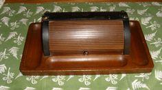 Men's Roll Top Dresser Valet, Deluxe Wood Dresser Caddy