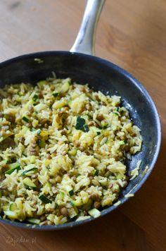 Ryż z cukinią i soczewicą