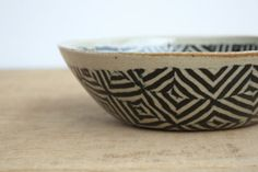 Japanese pottery - not painted - but two clays mosaic - beautiful!