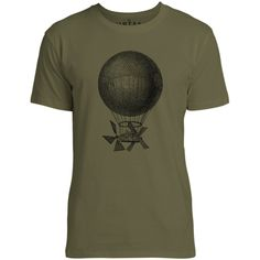 Mintage Magnificent Air Machine Mens Fine Jersey T-Shirt (Olive)