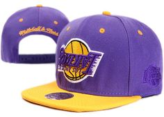 NBA LA Lakers Snapback Hats Caps Purple Mitchell And Ness 2507|only US$8.90