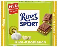 Ritter Sport lustig witzig Sprüche Bild Bilder Kiwi Knoblauch
