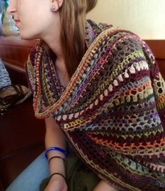 A free pattern from Ravelry: Stashbuster Blarf (Rectangular Shawl) by Esther Sandrof