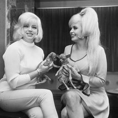 Diana Dors & Jayne Mansfield - 1966 ..  Blonde Bomb Shells