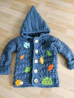 crocheted cardigan for my little boy... <3 #sternenzauber