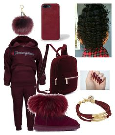 """""""BURGUNDYBIHHH"""" by thedxll ❤ liked on Polyvore featuring beauty, Handle, GUESS, Akira Black Label and Paul Smith"""