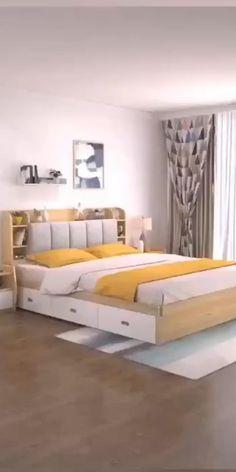 Master Bedroom Interior, Room Design Bedroom, Bedroom Furniture Design, Home Room Design, Room Ideas Bedroom, Bed Furniture, Room Decor, Small Room Design, Cama Design