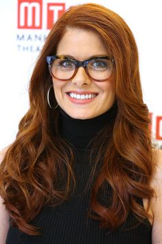 The Hottest Celebrity Glasses: 35 Frames You Need To Be Wearing: Debra Messing. For more ideas click the picture or visit www.sofeminine.co.uk