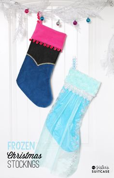 DIY Frozen Christmas Stockings