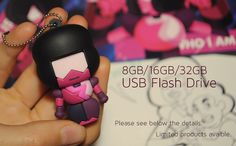 ‣ PVC Garnet USB Flash Drive with 8GB, 16Gb or 32GB of capacity.    ‣ 2.2in tall, USB 2.0   ‣ Free Postcards   FREE SHIPPING IN ORDERS OF 2 USBs OR MORE